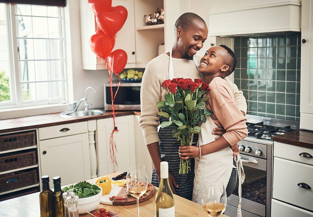 Couple enjoying Valentine's Day together